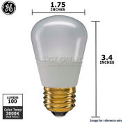 GE, 65537, Landscape Light Bulb, S14, Non-Dimmable, Soft White, Frosted, 3000K, 2.4 Watt