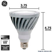 GE, 66050-GE, LED Narrow Flood Lamp, PAR30L, Dimmable, Soft White, Silver, 12 Watt