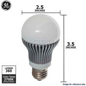 GE, 66150-GE, LED Lamp, R20, Dimmable, Warm White, Silver, 9 Watt