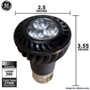 GE, 67578-GE, LED Flood Lamp, PAR20, Dimmable, Warm White, Black, 7 Watt