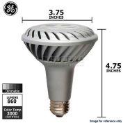 GE, 68388, LED Narrow Flood Lamp, PAR30L, Dimmable, Silver, 12 Watt