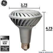 GE, 68390, LED Spot Lamp, PAR30L, Dimmable, Warm White, Silver, 12 Watt