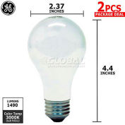 GE 78798-GE , 78798-, Halogen Bulbs, A19, 72 Watt, Soft White