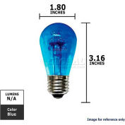 Sunlite, 80314, LED Light Bulb, S14, Blue, 0.8 Watt, 110 Volts