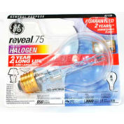 GE 82138 Halogen Light Bulb, A19, 75 Watt, 120 Volts, Soft White