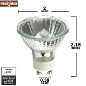 Platinum, EXN-GU10, Halogen Light Bulb, MR16, 50 Watt, 120 Volts, Clear