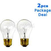 Sunlite, S01106, Incandescent Light Bulb, A19, E26 Medium Screw, 2 Pack, 60 Watt