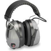 Elvex® Level Dependent™ Electronic Earmuff with Impulse Filter, COM-655, NRR 25, Gray