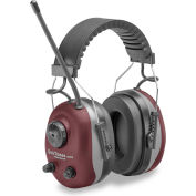 Elvex® QuieTunes™ AM/FM Stereo Earmuff, COM-660, Over-The-Head, NRR 25, Gray/Burgundy