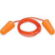 Elvex® Uni-Fit™ Disposable Foam Earplugs, EP-153, Corded, Orange, NRR 32, 100 Pairs/Box