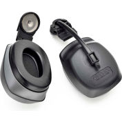 Elvex® QuickSnap™ Cap Mount Earmuff HM-6093, Cap Mounted, NRR 27, Black