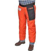"Elvex® ProChapsZ™ JE-9136Z, Wraparound Chainsaw Chaps, Orange, 36""L"
