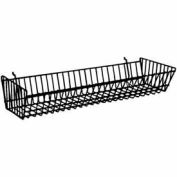 "24""W X 10""D X 5""H Double Sloping Basket - Semi-Gloss Black - Pkg Qty 6"