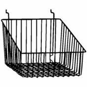 "12""W X 12""D X 8""H Sloped Front Basket - Semi-Gloss Black - Pkg Qty 6"