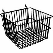 "12""W X 12""D X 8""H Deep Basket - Semi-Gloss Black - Pkg Qty 6"