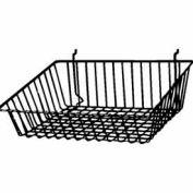 "15""W X 12""D X 5""H Sloping Basket - Semi-Gloss Black - Pkg Qty 6"