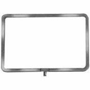 "11""W X 7""H Sign Holder W/ 1/4"" And 3/8"" Fitting - Chrome - Pkg Qty 60"