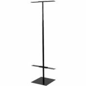 Adjustable Floor Standing Banner Displayer - Matte Black