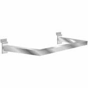 U-Shaped Rectangular Tubing Hangrail - Matte Black - Pkg Qty 10