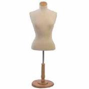 Female Blouse Form Tailor Bust, Neckblock & Base Included - Natural