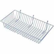 """24""""W X 12""""D X 4""""H Wire Basket - Epoxy Coated Grey - Pkg Qty 6"""