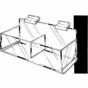 Acrylic Double Hosiery Bin - Clear - Pkg Qty 8