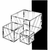 """8""""W X 8""""DX 8""""H Medium Display Cube - Clear - Pkg Qty 6"""