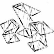 Set Of 3 Beveled Edge Slant Shoe Risers - Clear - Pkg Qty 6