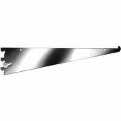 """14"""" Shelf Bracket W/ Nylon Stabilizer - Chrome - Pkg Qty 25"""