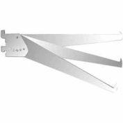 "12"" Adjustable Tap-In Style Shelf Bracket - Chrome - Pkg Qty 25"