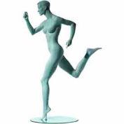 Female Runner w/ Right Leg Back - Cameo White