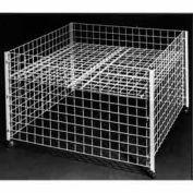 "36"" Square Grid Dump Bin - Chrome"