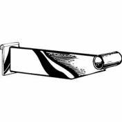 "12"" Hangrail Bracket For 1-1/4"" Round Tubing - Chrome - Pkg Qty 24"