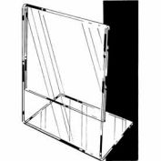 "7""W X 5-1/2""H Acrylic Sign Holder Horizontal – Slantback For Counter Top - Clear - Pkg Qty 24"