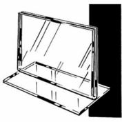 """7""""W X 5-1/2""""H Acrylic Top Load Counter Top - Clear - Pkg Qty 24"""