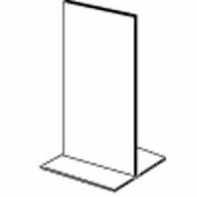 "5-1/2""W X 7""H Acrylic Sign Holder Top Load Counter Top - Clear - Pkg Qty 24"