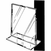 "11""W X 7""H Acrylic Sign Holder Horizontal – Slantback - Clear - Pkg Qty 24"
