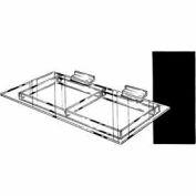 "12""D X 24""L Extra Support Shelf - Clear - Pkg Qty 6"