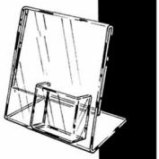 "8-1/2""W X 11""H Acrylic Sign Holder Slantback W/ 4"" Pocket For Counter Top - Clear - Pkg Qty 6"