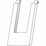 "4""W X 9""H Acrylic Gridwall Literature Holder - Clear - Pkg Qty 24"