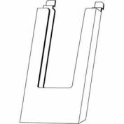 "4""W X 9""H Acrylic Slatwall Literature Holder - Clear - Pkg Qty 24"
