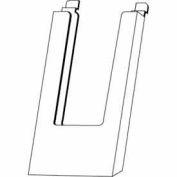 "4""W X 9""H Acrylic Slatwall Literature Holder - Clear - Pkg Qty 24"