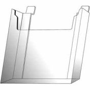 "8-1/2""W X 11""H Acrylic Slatwall Literature Holder - Clear - Pkg Qty 12"