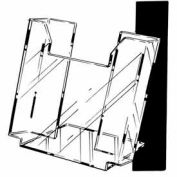 "8-1/2""W X 11""H Acrylic Wall-Mounted Literature Holder - Clear - Pkg Qty 12"