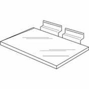 "10""W x 4""D Injection Molded Styrene Shoe Shelf - Clear - Pkg Qty 100"