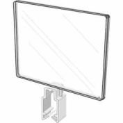 """5-1/2""""H X 7""""W Polycarbonate Sign Holder W/ All-Purpose Clamp - Clear - Pkg Qty 24"""