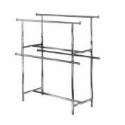 Clamp-On Hangrail For Double Bar Garment Racks K40 And K41 - Chrome - Pkg Qty 2
