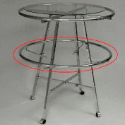 """42"""" Add-On Round Hangrail For K55 And K57wd Garment Rack - Chrome - Pkg Qty 5"""