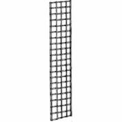 2'W X 7'H - Wire Grid Wall Panel - Semi-Gloss Black - Pkg Qty 3