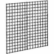 4'W X 4'H - Wire Grid Wall Panel - Semi-Gloss Black - Pkg Qty 3